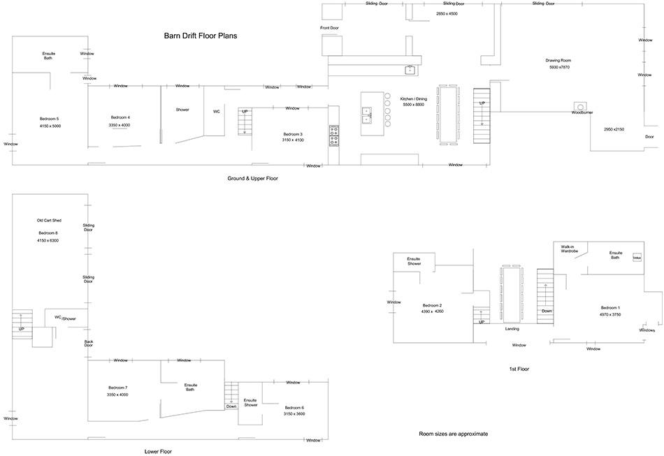 Barn Drift Floorplans