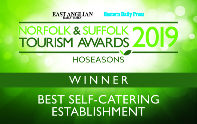 Norfolk & Suffolk Tourism Awards - WINNER, Best self-catering establishment